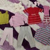 Пакет вещей на девочку 1,5-3 лет, р.86-98