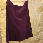 На пышные формы! Шикарная плотненькая темно-бордовая юбка на ощупь как замш р.20 Новая Акция читайте