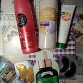 Подарочный набор косметики все что на фото шампунь, соль для ванн, крем, патчи, маска