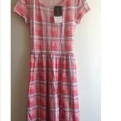 платье в клетку клеточку new look xs s