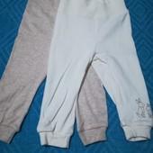 Набор 2шт, штанишки для мальчиков и девочек Lupilu размер 62/68 (2-6 мес.) )