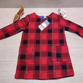 Германия!!! Тепленькое стильное платье для девочки! 86/92!