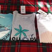 Яркие футболочки Sinsay 140р, 100% хб