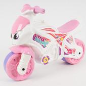 Моя доставка новой почтойКаталка-толокар Технок 2х колесный мотоцикл. Бело-розового цвета
