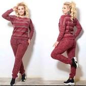 женский теплий костюм 56,58размер цвет бордо как на первое фото
