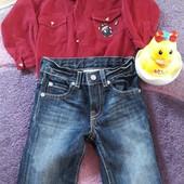 Джинсики и рубашка для малыша 12 мес