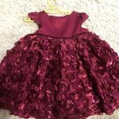 Нарядное платье на малышку 86 рост