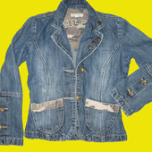 Джинсовый пиджачок Cars Jeans на 7-8 лет
