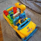 Игровая строительная машинка с инструментами Маленький ваговозик