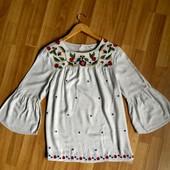 Matalan ))) фірмова блузка оздоблена вишивкою