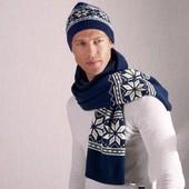 Теплый шарф на флисе с норвежским узором от Tchibo (Германия)