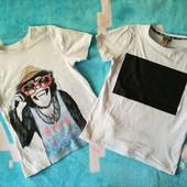 Одним лотом! Две фирменные футболки на мальчика, р. 122/128