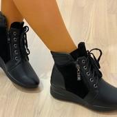 Шикарные женские зимние ботинки по супер цене. Последний размер 36.
