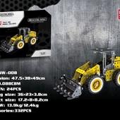 Конструктор металлический Трактор 332 деталей