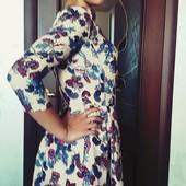Платье в идеале в офис цветы классика Турция не секонд! р.42-44
