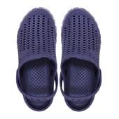 Пляжные кроксы Dots синие. 23 см