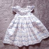 Нежное платье George для малышки 9-12мес, рост 74-80, 100%хлопок