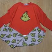 Флисовая пижама на мальчика состояние очень хорошее