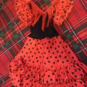 Платье с бахромой и воланами: Кармен, цыганочка, танцовщица.