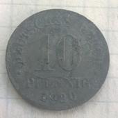 Монета Германии 10 пфенингов 1920