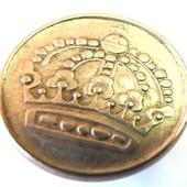 монета Швеция 25 эре, 1957, серебро!