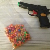 Пистолет шпиона с пульками.
