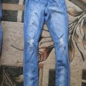 Собирай лоты) Красивые крутые джинсы с потертостями и рванками на подростка 13-16 лет