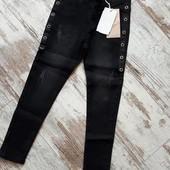 Стильные джинсы скинни модные элементы р10 длина 80/58