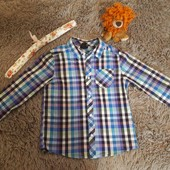очень яркая и красивая рубашка на первоклашку!