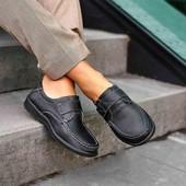 Туфли- мокасины, невероятно лёгкие, кожа, пролет.