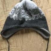 Тепла зимова шапочка Н&М на 1-2 роки зріст 86-92