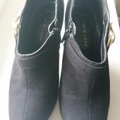 Ботильйоны замшевые / закрытые туфли. Очень нежные и аккуратные