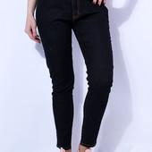 Всегда в моде!Черные джинсы женские весна-лето на ОБ 48-55см