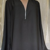 Шифоновая блуза с удлиненной спинкой