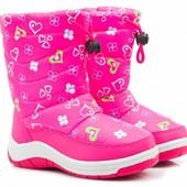 Красивые фирменные зимние ботинки - дутики 28, 29, 31, 35 размеры