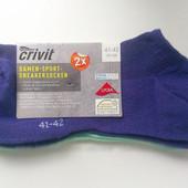 2 пары Классные фирменные низкие носки от Crivit Новые