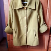 Куртка 50% натуральная шерсть 52 р.б/у