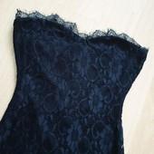 Кружевное брендовое платье boohoo 42-46р