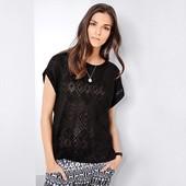 Мягкая футболка-блуза с узорами на ткани от TCM Tchibo(Германия) размеры наши: 56-62 (евро 52/54)