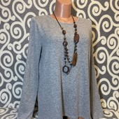 Модный, мягенький свитерок Street One с удлинённой спинкой для пышненьких девушек .