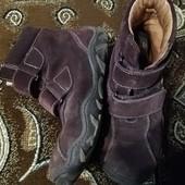 Деми ботинки ботиночки из натуральной замши Внутри натуральная кожа