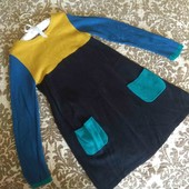 John Lewis платье тонкая вязка 5-6-7 л 110-116-122 см яркое осень зима