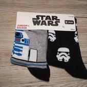 Германия! Star Wars! Крутые носочки на мальчика, 2 шт в упаковке, размер 35-38