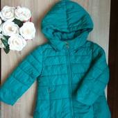 Бірюзова зимова куртка 104р.