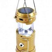 Очень милый фонарь кемпинговый фукция power bank заряд от сети плюс солнечная батарея!