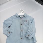 Стоп!!, Фирменная удобная яркая натуральная джинсовая рубашка от Zara