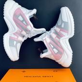 Кроссовки Луи Витон белые Кроссовки луи витон Louis Vuitton луи виттон белый розовый