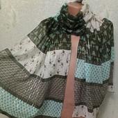 Красивый яркий легенький шарф палантин 180/45 Новый Акция читайте