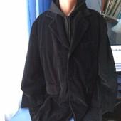 Шикарное дорогое мужское вельветовое пальто с капюшоном ( отстёгивается), р.58-62