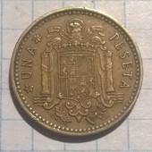 Монета Испании 1 песета 1966